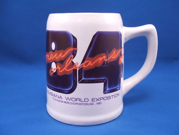 1984 NEW ORLEANS World's Fair Beer Mug MN