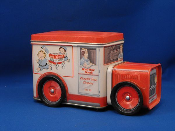 1994 Bristolware Tin Campbell Soup Truck Advertising MINT