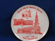 1908-1987 Hunter Street Baptist Church 80th Anniversary Plate