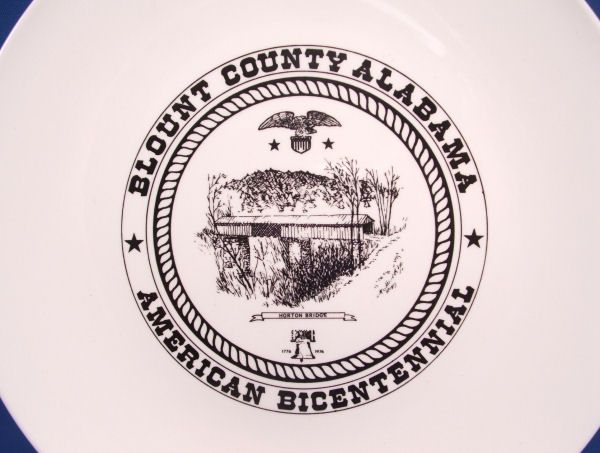 Covered HORTON BRIDGE Bicentennial Plate