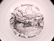 1971 BLUFF ILLINOIS Centennial Plate NM