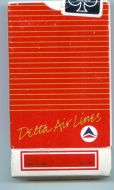 DELTA AIRLINES Red Gold w Seal Playing Cards