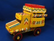 STP Haiti Hand Crafted Primitive Decorative Painted Wood Truck