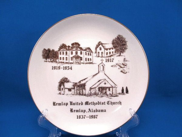 1837-1987 REMLAP, AL Methodist Church Plate