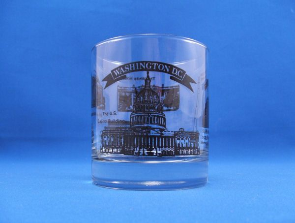 WASHINGTON DC Souvenir Highball Glass Mint